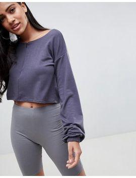 prettylittlething-half-zip-crop-sweatshirt by prettylittlething