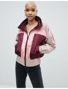 Asos Design Colourblock Bomber Jacket by Asos Design