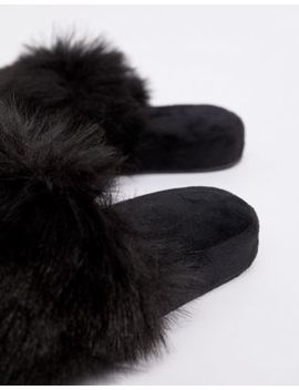 Boux Avenue Fluffy Slider Slippers by Boux Avenue