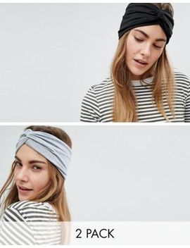 Asos Design Pack Of 2 Turban Headbands by Asos Design