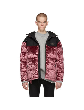 d274ef7d1 Red Down Velvet Urban Nuptse Jacket