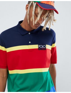 Stripe Sized Fit Hi Ralph Lauren Over Classic Polo In Tech Multi Capsule Red 0PN8nwOXk