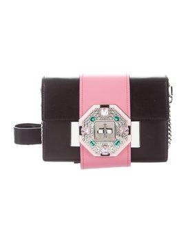 8712a2a83e4397 Shoptagr | City Calf Jewels Ribbon Bag by Prada