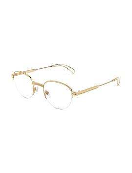 8fd924230 Shoptagr | 9 Five Dime 24k Gold Clear Lens Glasses by 9 Five