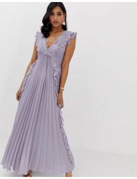 453a3f433fe asos-design-pleated-maxi-dress-with-lace-inserts-