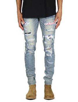 656f9175d62ef0 Shoptagr | Lt.Blue Drop Crotch Denim Jogger by Hyper Denim