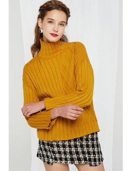 148a8a8e50a2 Shoptagr | Josefina Asymmetrical Pattern Turtleneck 2 Colors by Storets