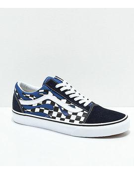 fbaba0360f vans-old-skool-checkerboard-flame-navy- -white-