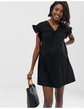 d1d545ccb2186 Shoptagr | Asos Design Maternity Mini Reversible Cotton Slub Smock ...