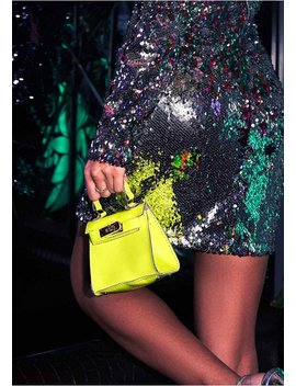 8a81c5f6bd0b Shoptagr | Sasha Neon Yellow Mini Chain Bag by Missy Empire