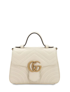 ad32fc456 Shoptagr | Mini Gg Marmont Leather Top Handle Bag by Gucci