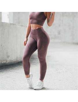 348b0553d366c Shoptagr | Women Hollow Leggings Push Up Fitness Leggings High Waist ...