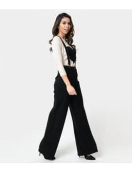 1a48eb936c Shoptagr | Collectif 1940s Style Black High Waist Glinda Suspender ...