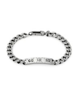 Gucci Ghost Silver Link Id Station Bracelet by Jr Dunn