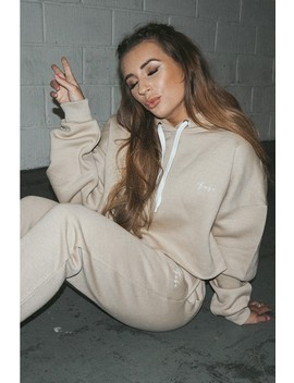 71058bf839c3cb Shoptagr | Dani Dyer Babe Stone Embroidered Cropped Hoodie by In The ...