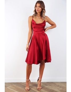 f25837f15ed8 Shoptagr | Dangerous Woman Dress Deep Red by Stelly