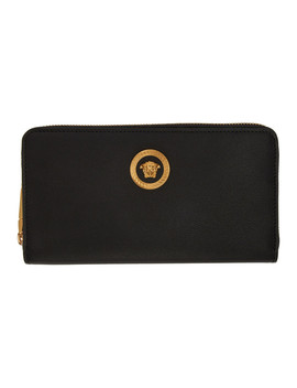 4ee6f75923 Shoptagr   Black Medusa Tribute Continental Wallet by Versace