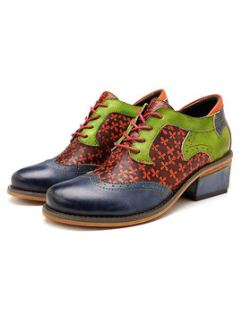 9104b1ab400 Shoptagr | Socofy Retro Clover Pattern Hand Colored Genuine Leather ...