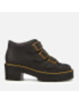 Dr. Martens Women's Coppola Leather Buckle Heeled Boots   Black by All Sole