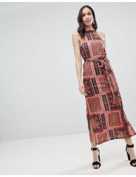 c508a0fb6bb1a Shoptagr | Asos Design Scarf Print Maxi Sundress With Belt by Asos ...
