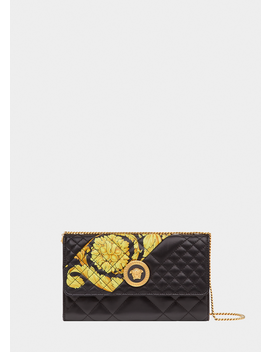 4b230faf95 Shoptagr | Gold Hibiscus Quilted Evening Bag by Versace