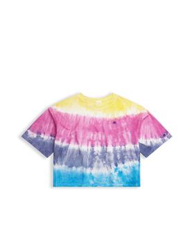 13810af1433f Shoptagr | Oversized Rainbow Tie Dye T Shirt by Champion