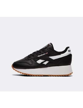 8a189670f3b REEBOK. WOMENS CLASSIC LEATHER DOUBLE TRAINER