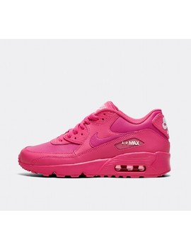 89b169cdea Shoptagr | Junior Air Max 90 Leather Trainer | Laser Pink by Nike