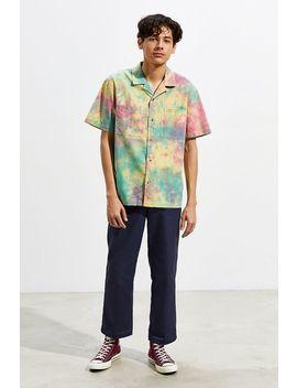 29c5d7baa4a Shoptagr   Uo Tie Dye Seersucker Short Sleeve Button Down Shirt by ...