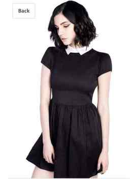 DISTURBIA COVEN WEDNESDAY DRESS goth peter pan white witch collar Size  Large UK