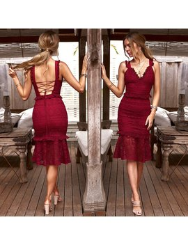 b659cf702260 Shoptagr | Secret Haven Multi Way Midi Dress Maroon by Honey Peaches