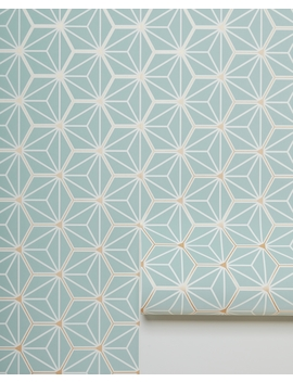 starburst-hexagon-wallpaper-by-taylor-sterling,-blue by lulu