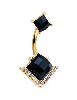 Shoptagr Black Gem Gold Tone Anodized High Class Double Mount