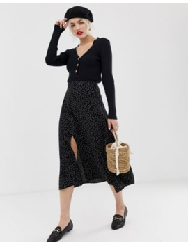 new-look-skirt-with-split-side-in-polka-dot by new-look