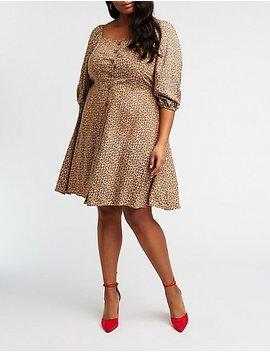 Shoptagr | Plus Size Leopard Print Button Up Dress by ...