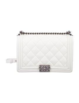 11cb4b51993f11 Shoptagr   Medium Plus Double Stitch Boy Flap Bag by Chanel