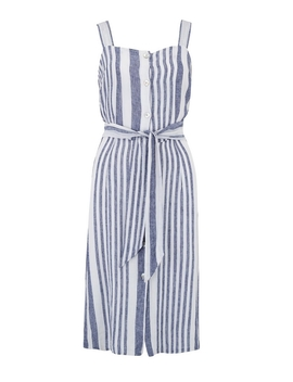 Clement Dress In Bay Stripe by Trilogy