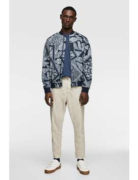 81048851a Shoptagr | Bandana Print Puffer Jacket View All Jackets Man by Zara