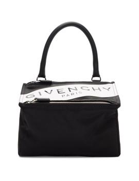 2263194ee4a Shoptagr | Black Small Band Logo Pandora Bag by Givenchy