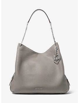 b035776ad73b84 Shoptagr   Lillie Large Pebbled Leather Shoulder Bag by Michael ...
