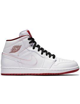 20e9f926 Shoptagr | Jordan 1 Retro Mid White Gym Red Black by Stock X