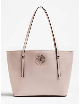 1baeee3151 Shoptagr   Sac Cabas Open Road Triple Compartiment Logo by Guess