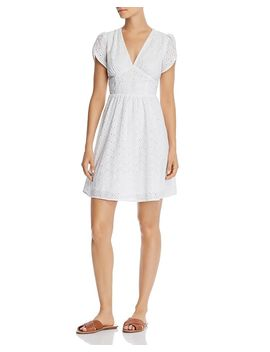 eyelet-fit-and-flare-dress---100%-exclusive by aqua