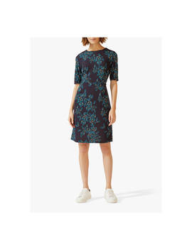 46403a80f2d Shoptagr | Jigsaw Waterfall Petal Print Jersey Dress, Navy by Jigsaw
