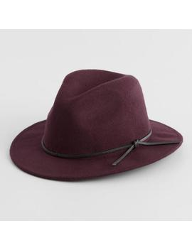 e1e0214aa Wine and Snakeskin Trim Wool Rancher Hat