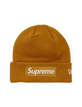 97e2cd27c Supreme New Era Box Logo Beanie (FW18) Mustard
