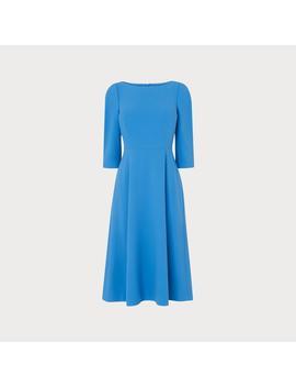 lemoni-blue-dress by lkbennett
