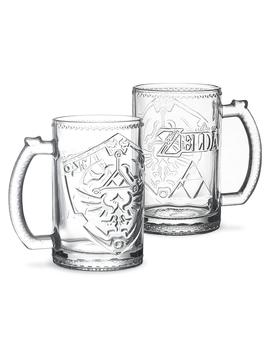 Legend Of Zelda Hylian Shield Glass by Think Geek