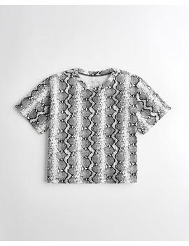 snakeskin-boyfriend-t-shirt by hollister