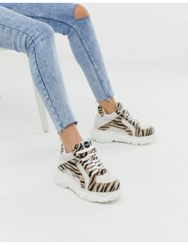 6d67a9804649 Shoptagr | Buffalo Colby Exclusive Low Platform Chunky Trainers In ...